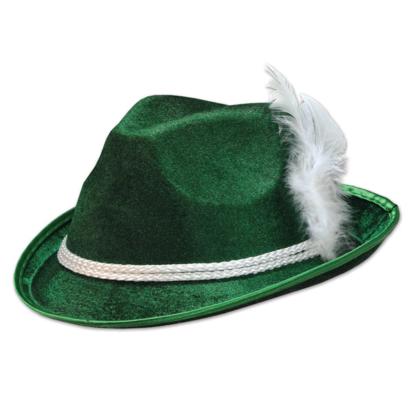 Forest Green Felt Hat-Alpine Party Accessory