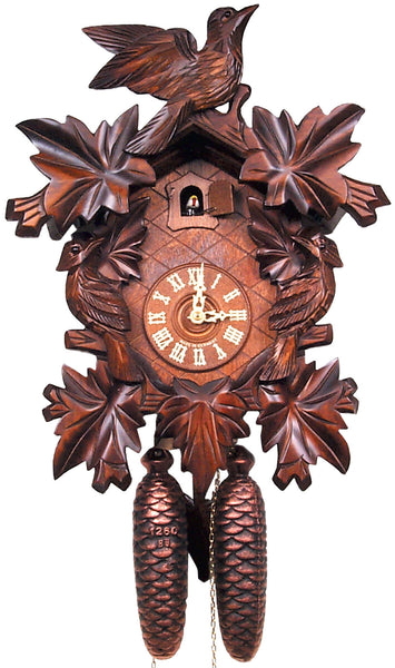 Black Forest 8-Day Cuckoo Clock with Leaf Detail