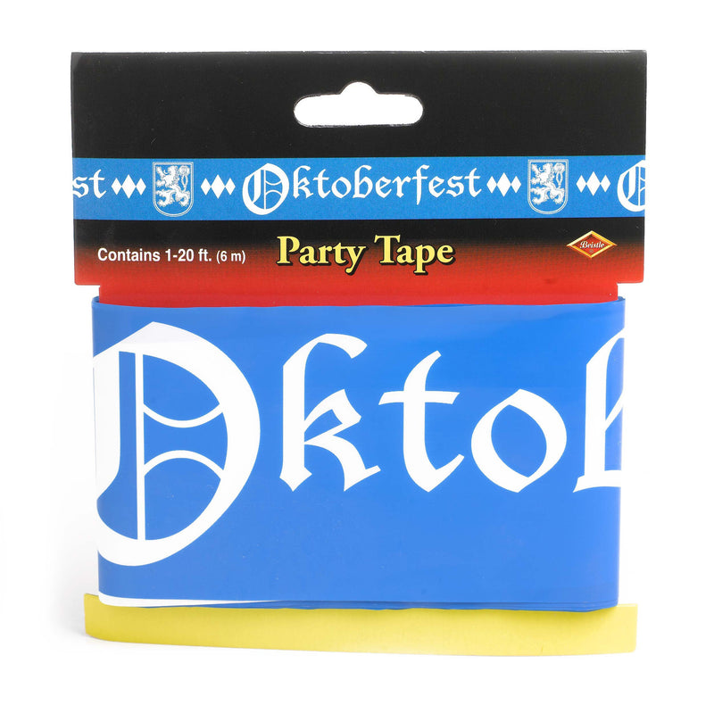 Oktoberfest All Weather Party Tape 20 Feet - Below $10, Hanging Decorations, Multi-Color, Oktoberfest, Plastic, PS- Oktoberfest Decorations, PS- Oktoberfest Essentials-All OKT Items, PS- Oktoberfest Hanging Decor, PS- Oktoberfest Table Decor, PS-Party Favors, PS-Party Supplies, Tableware, Top-OFST-B - 2 - 3