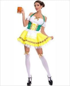 Oktoberfest Beer Girl Costume - $20 - $50, Apparel- Costumes - German - Womens, Multi-Color, Polyester, PS-Party Supplies, Size, Womens, X-Large