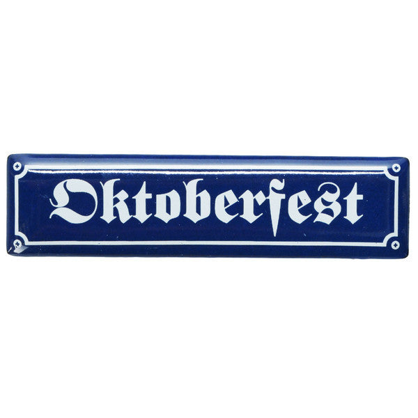 Fun Oktoberfest Street Sign Magnet