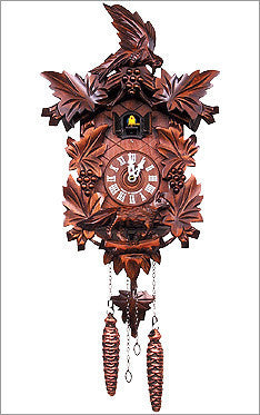 Black Forest - German Cuckoo Clock with 3 Carved Birds