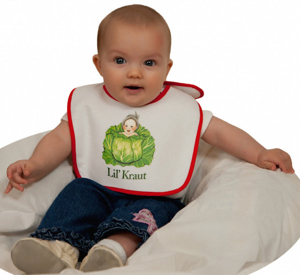 German Gift Idea Baby Bib Lil' Kraut