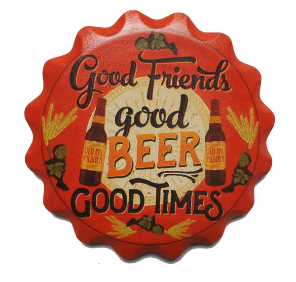 Ceramic Coaster Set Gift- Beer With Friends