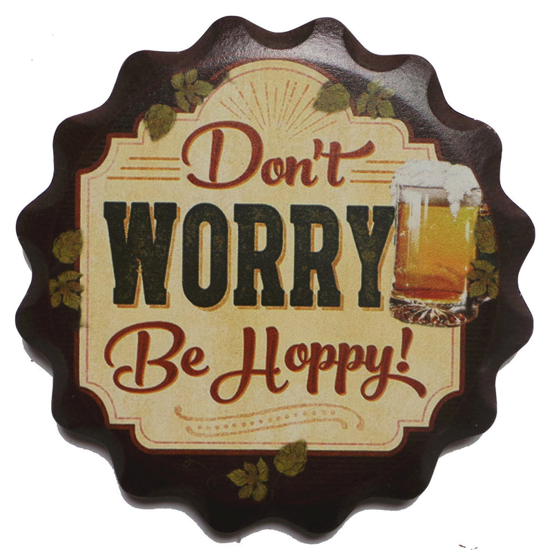inchesDon't Worry. Be Hoppy inches Oktoberfest Coaster - Beer, Coasters, German, New Products, NP Upload, PS-Party Favors German, SY:, SY: Be Hoppy, Top-GRMN-A, Under $25, Yr-2016