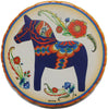 Blue Dala Horse Bevelled Coaster Set
