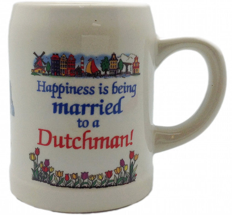 Ceramic Coffee Mug:  inchesMarried to a Dutchman inches - Coffee Mugs, Coffee Mugs-Dutch, Drinkware, Dutch, Home & Garden, SY: Happiness Married to Dutch, Tableware