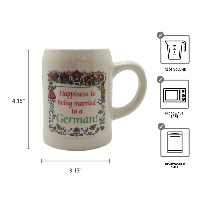 "German Coffee Mug: ""Happiness Married to German"""