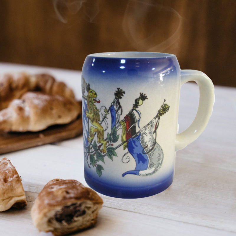 German Coffee Mug with Bavarian Coat of Arms