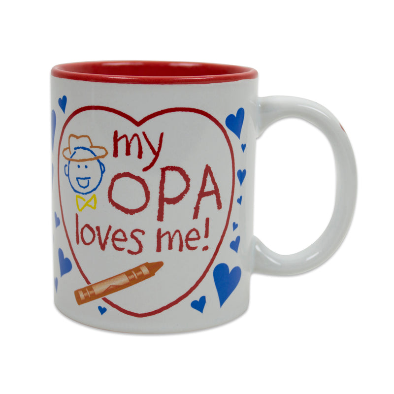 "Gift for Opa's Grandchildren Mug  ""My Opa Loves Me"""