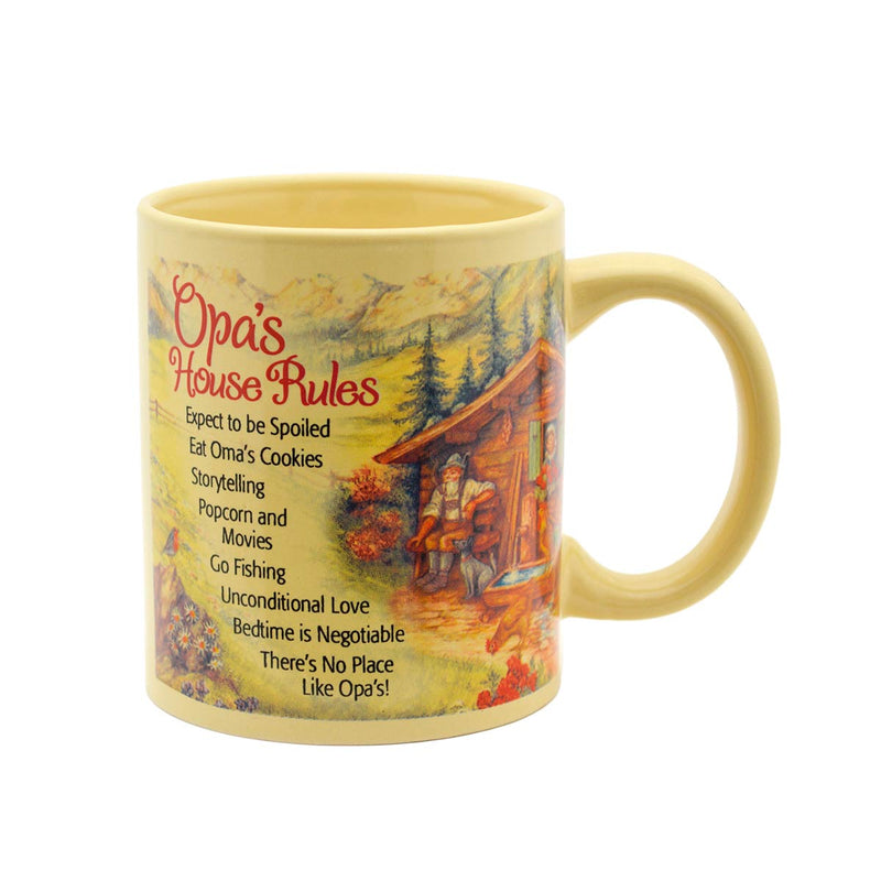 """Opa's House Rules"" Gift for Opa Mug"