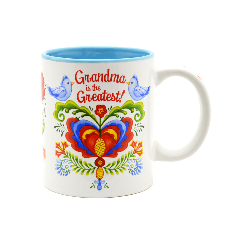 Ceramic Coffee Mug  inchesGrandma is the Greatest inches - Coffee Mugs, CT-100, CT-101, CT-102, Grandma, New Products, NP Upload, Rosemaling, SY:, SY: Grandma Greatest, Under $10, Yr-2016