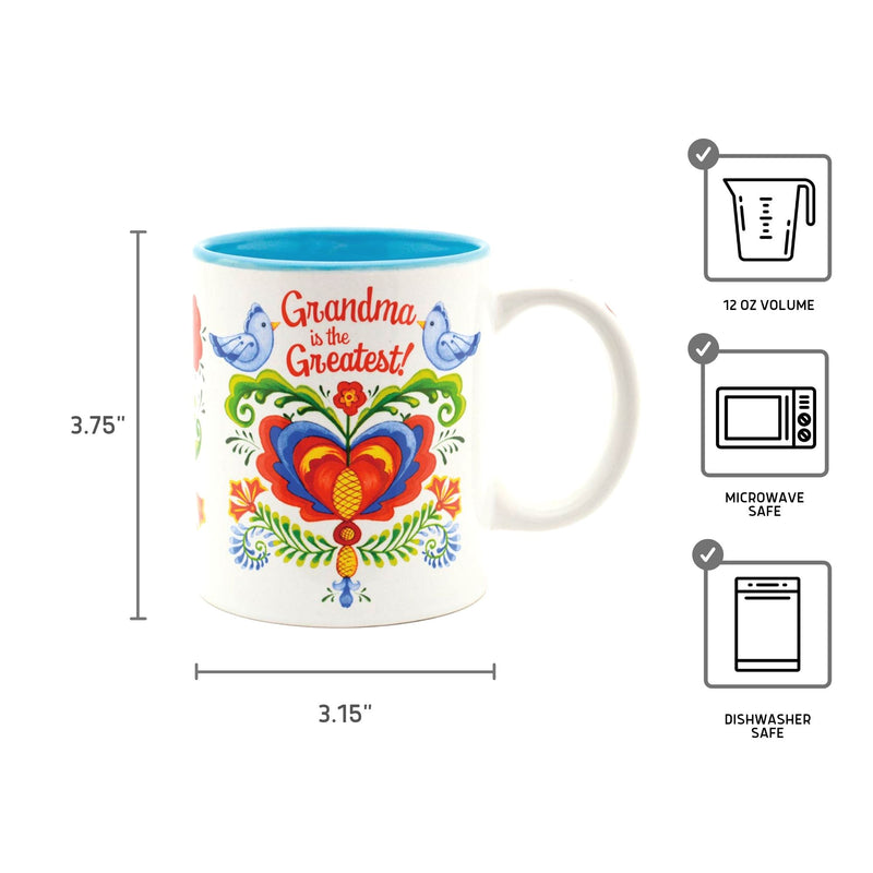 "Ceramic Coffee Mug ""Grandma is the Greatest"""