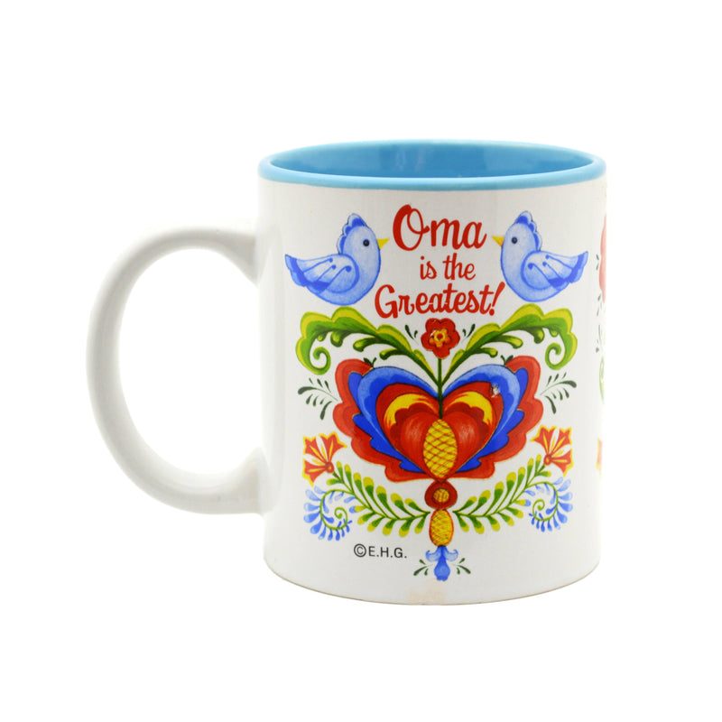 """Oma is the Greatest"" Bird Design Ceramic Coffee Mug - 4 - GermanGiftOutlet.com"