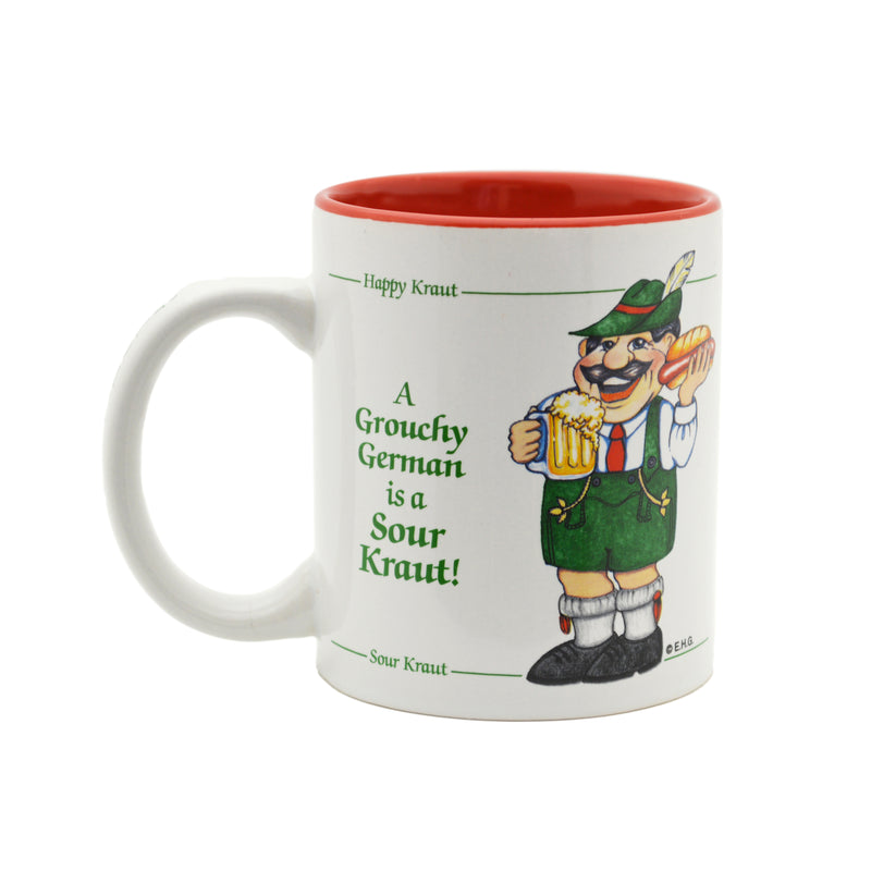 "German Gift Idea Mug ""A Grouchy German Is A Sour Kraut"""