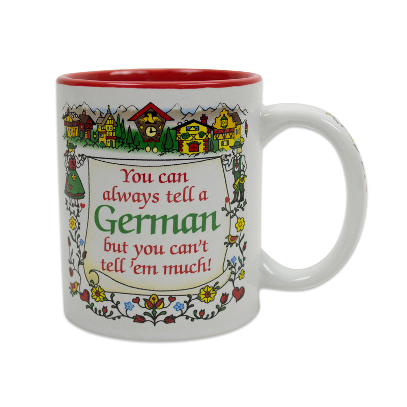 "Gift for German Coffee Mug ""Tell A German…"""