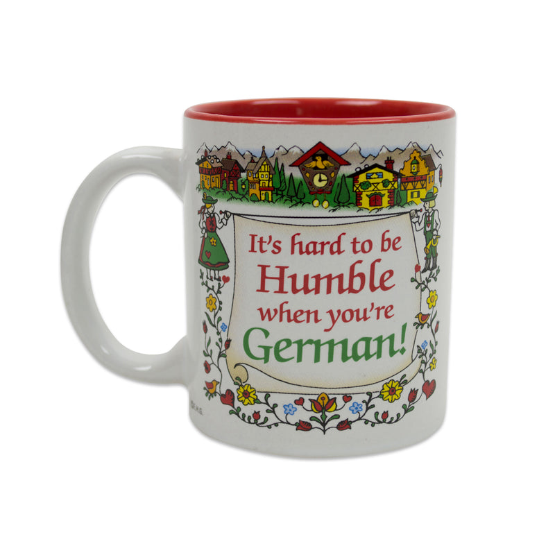 "Gift for German Coffee Mug ""Humble German"""