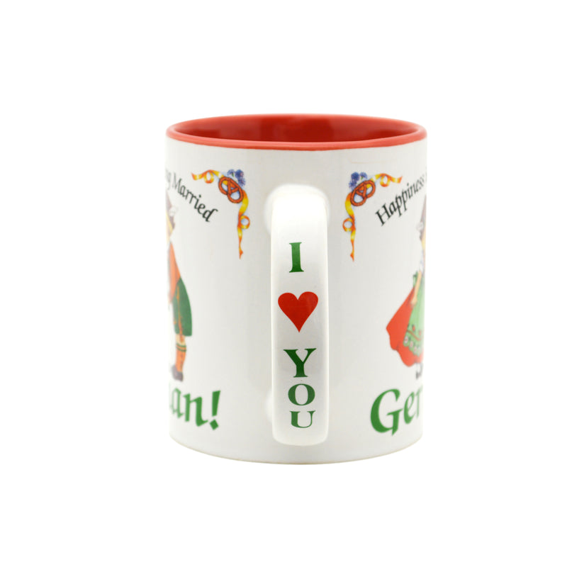 German Gift Idea Mug  inchesHappiness is being Married to a German inches - Coffee Mugs, Coffee Mugs-German, CT-106, CT-500, German, New Products, NP Upload, SY:, SY: Happiness Married to a German, Under $10, Yr-2016 - 2 - 3