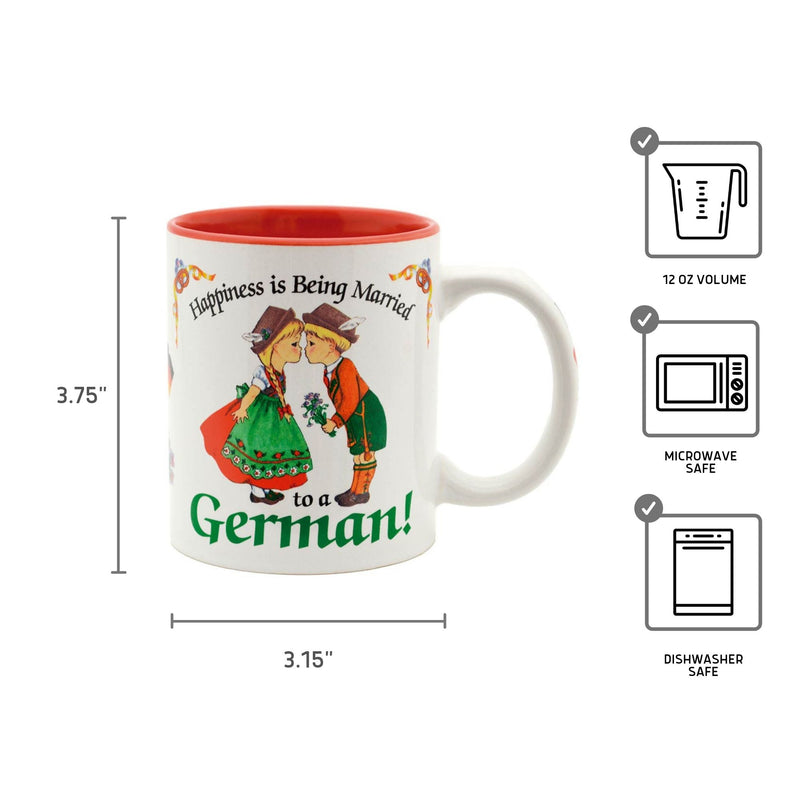 "German Gift Idea Mug ""Happiness is being Married to a German"""