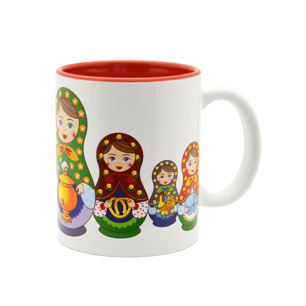 Ceramic Coffee Mug Russian Nesting Doll