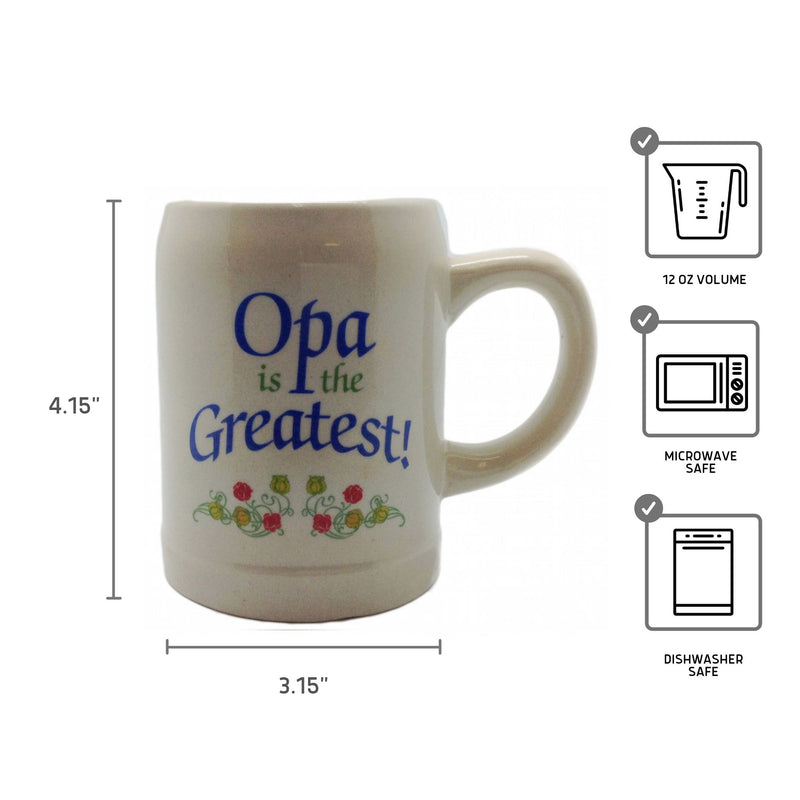 "Gift for Opa German Coffee Mug: ""Opa is the Greatest"""