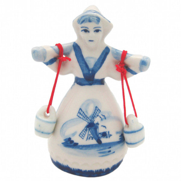 Blue & White Dutch Milkmaid - Collectibles, Decorations, Delft Blue, Dutch, Figurines, Home & Garden, L, Medium, Milkmaid, PS-Party Favors, PS-Party Favors Dutch, Size, Small, XL, XS