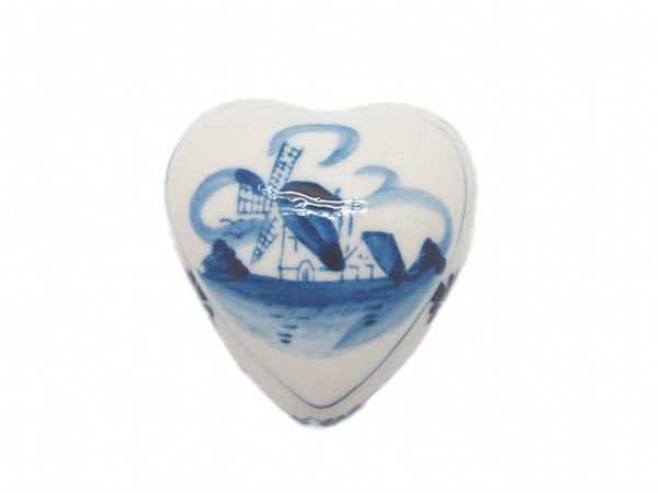 Delft Ceramic Heart Box