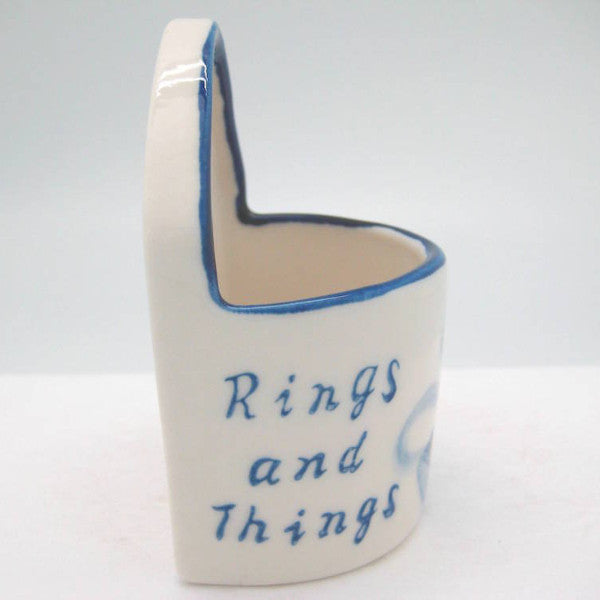 Blue and White Ring Box  inchesRings & Things inches - Ceramics, Decorations, Delft Blue, Dutch, Home & Garden, Jewelry Holders, L, PS-Party Favors, PS-Party Favors Dutch, Size, Small - 2
