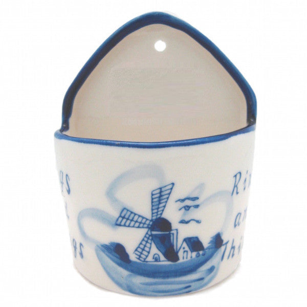 Blue and White Ring Box  inchesRings & Things inches - Ceramics, Decorations, Delft Blue, Dutch, Home & Garden, Jewelry Holders, L, PS-Party Favors, PS-Party Favors Dutch, Size, Small - 2 - 3