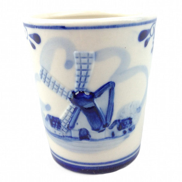 Porcelain Windmill Design Shot Glass - Alcohol, Barware, Ceramics, Collectibles, Delft Blue, Drinkware, Dutch, Home & Garden, PS-Party Favors, PS-Party Favors Dutch, Shot Glasses, Shots-Ceramic, Shots-Glass, Tableware, Top-DTCH-A, Windmills