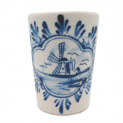 Porcelain Shot Glass: Blue and White