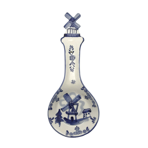 Porcelain Spoon Rests Delft Blue 3 D Windmill