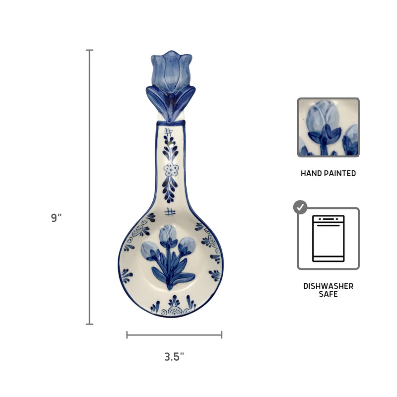 Porcelain Spoon Rests Delft Blue 3 D Tulip