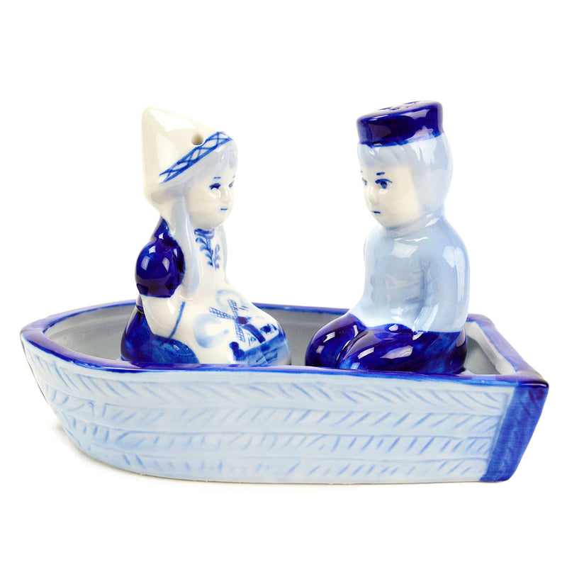 Collectible Pepper and Salt Shakers: Delft Boat