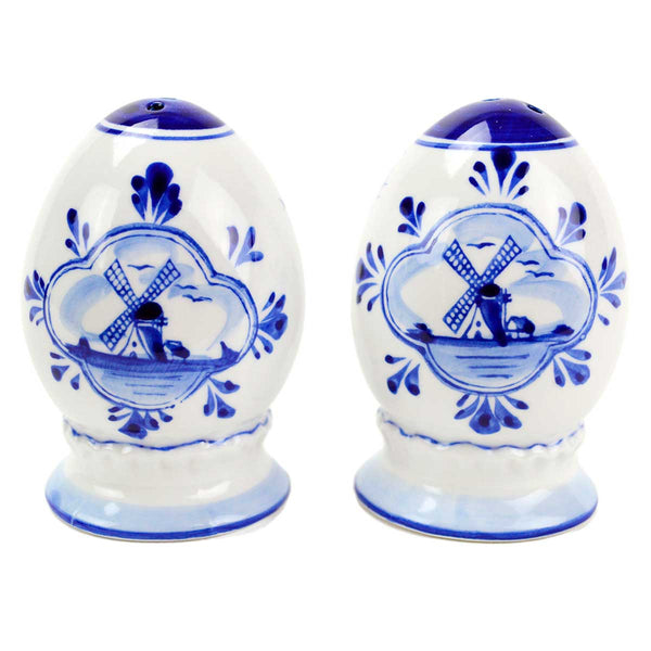 Ceramic Pepper and Salt Shakers: Egg Set