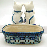 Kittens Pepper and Salt Shakers: Kittens/Basket - Animal, Below $10, Collectibles, Delft Blue, Dutch, Home & Garden, Kitchen Decorations, S&P Sets, Tableware, Under $10 - 2