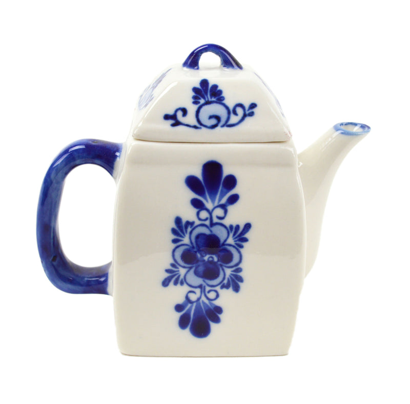 Blue Mini Tea Pot 3.75 inches - Below $10, Coffee Mugs, Collectibles, Decorations, Drinkware, Dutch, Home & Garden, Tableware - 2