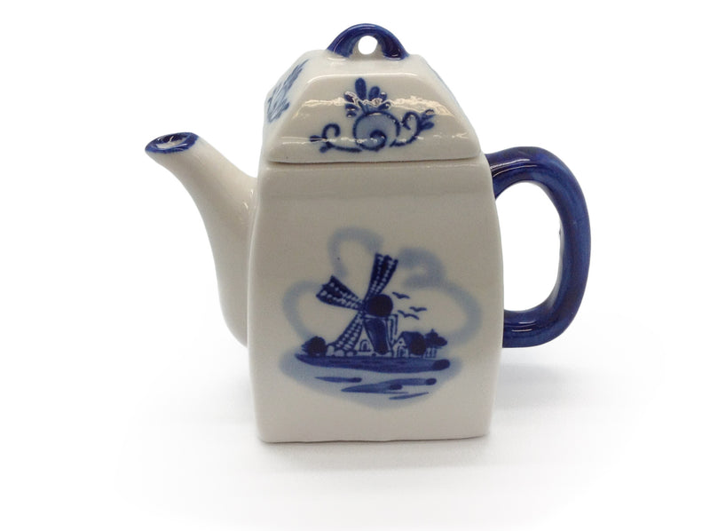 Blue Mini Tea Pot 3.75 inches - Below $10, Coffee Mugs, Collectibles, Decorations, Drinkware, Dutch, Home & Garden, Tableware