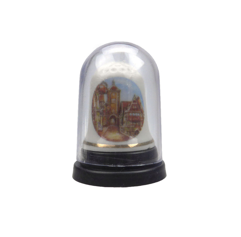 German Village Thimble Souvenir - Collectibles, Delft Blue, Dutch, Euro Village, German, Germany, PS-Party Favors, PS-Party Favors German, Thimbles, Top-DTCH-B - 2