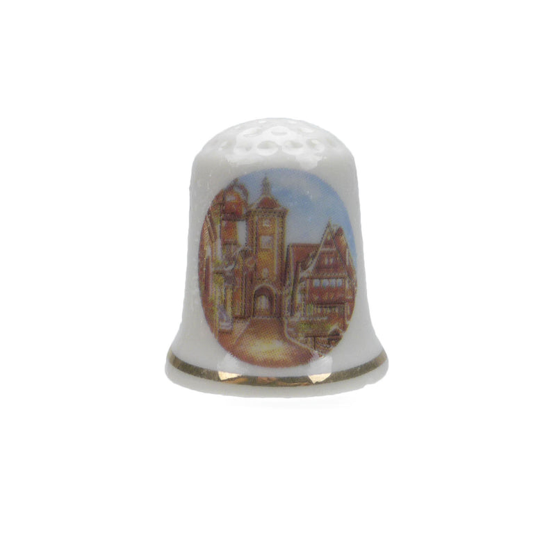 German Village Thimble Souvenir - Collectibles, Delft Blue, Dutch, Euro Village, German, Germany, PS-Party Favors, PS-Party Favors German, Thimbles, Top-DTCH-B