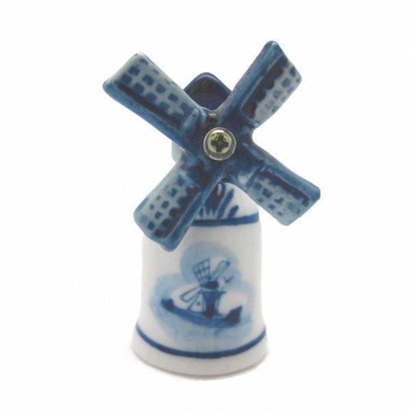 Decorative Thimble Blue and White Windmill