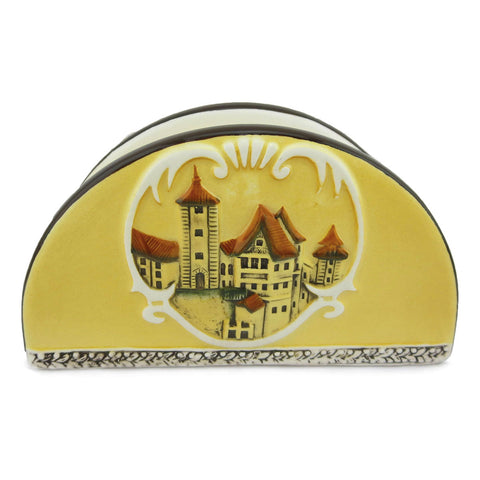 Elegant Ceramic Napkin Holder  European Village