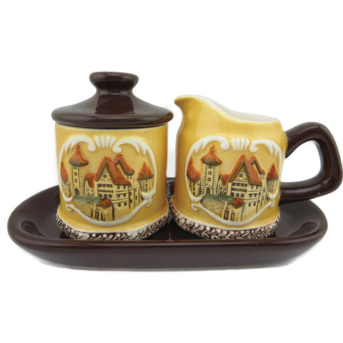 Elegant Ceramic Sugar & Creamer Set  European Village