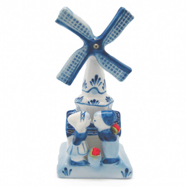 Decorative Windmill and Kissing Couple - Collectibles, Decorations, Delft Blue, Dutch, Figurines, Home & Garden, Kissing Couple, L, PS-Party Favors, PS-Party Favors Dutch, Size, Small, Top-DTCH-A, Tulips, Windmills