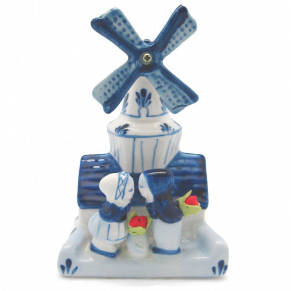 Decorative Windmill and Kissing Couple - Collectibles, Decorations, Delft Blue, Dutch, Figurines, Home & Garden, Kissing Couple, L, PS-Party Favors, PS-Party Favors Dutch, Size, Small, Top-DTCH-A, Tulips, Windmills - 2 - 3