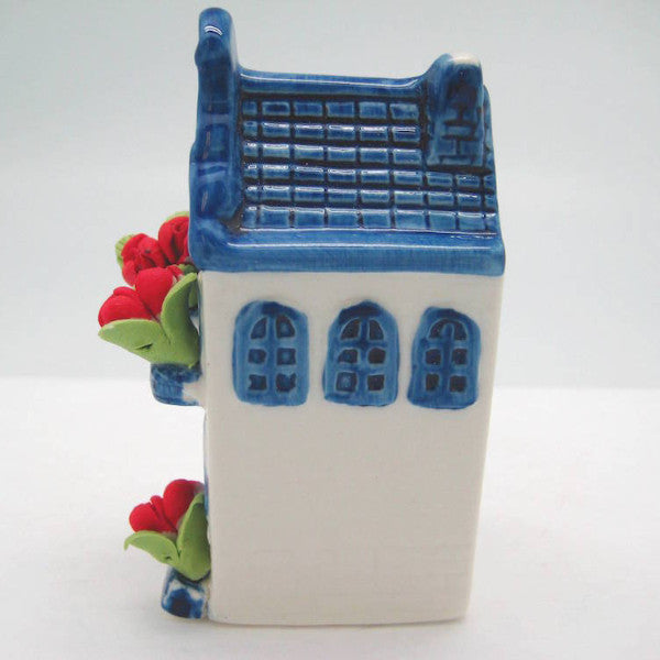 Miniature Ceramic House with Tulips - Collectibles, Delft Blue, Dutch, Home & Garden, Miniatures, Miniatures-Dutch, PS-Party Favors, PS-Party Favors Dutch, Tulips - 2