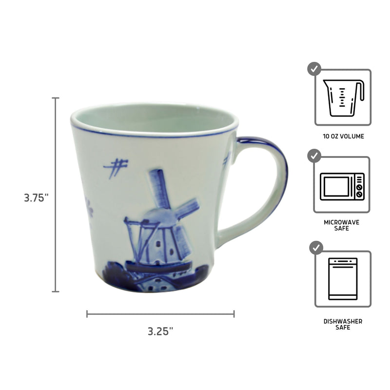 Embossed Windmill Coffee Mug