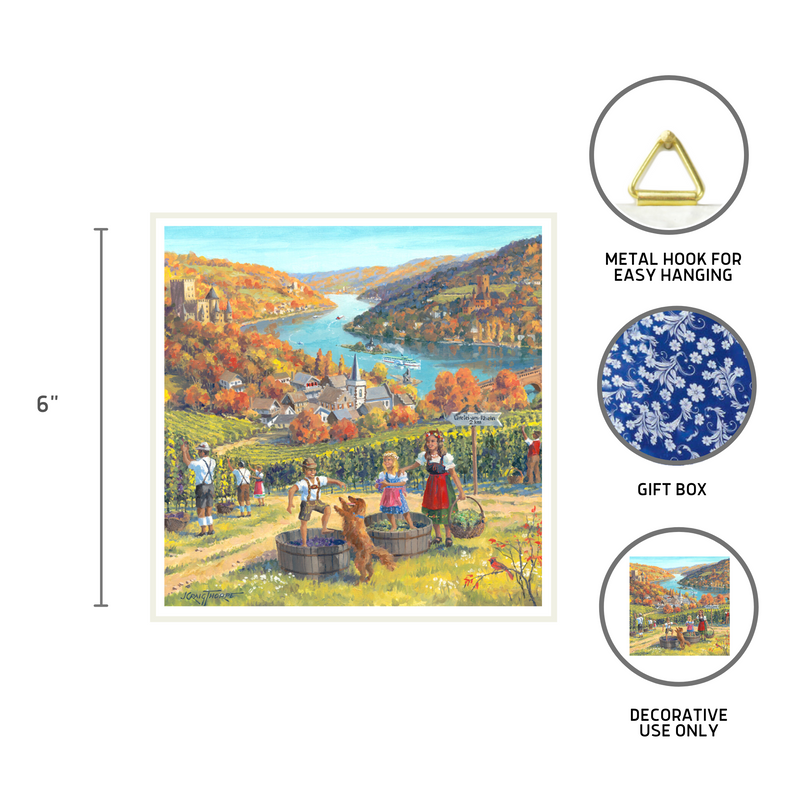 Seasons of Germany Collectors Tile: Fall