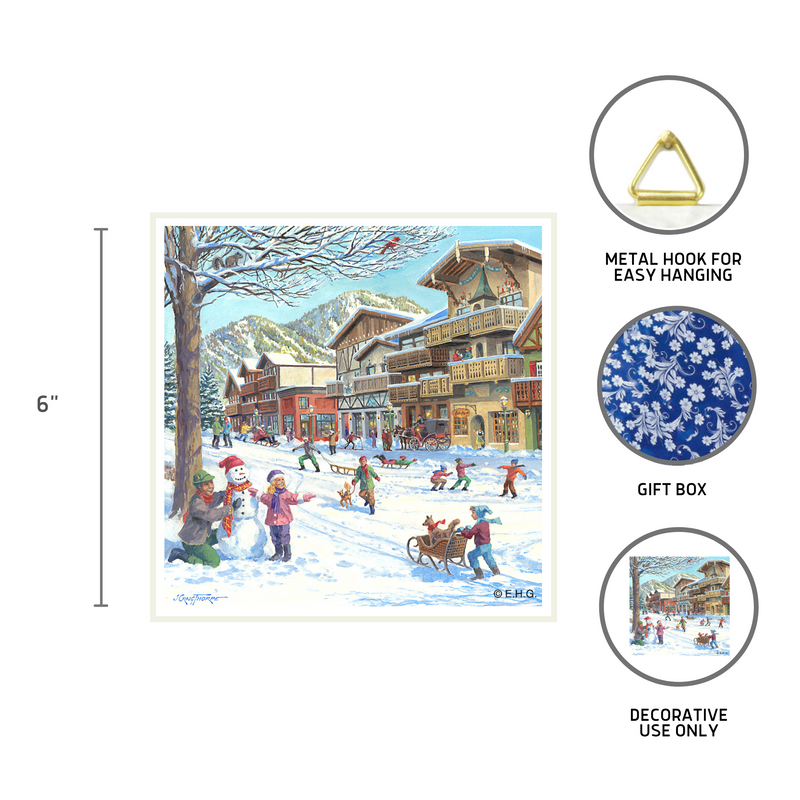 Seasons of Germany Collectors Tile: Winter