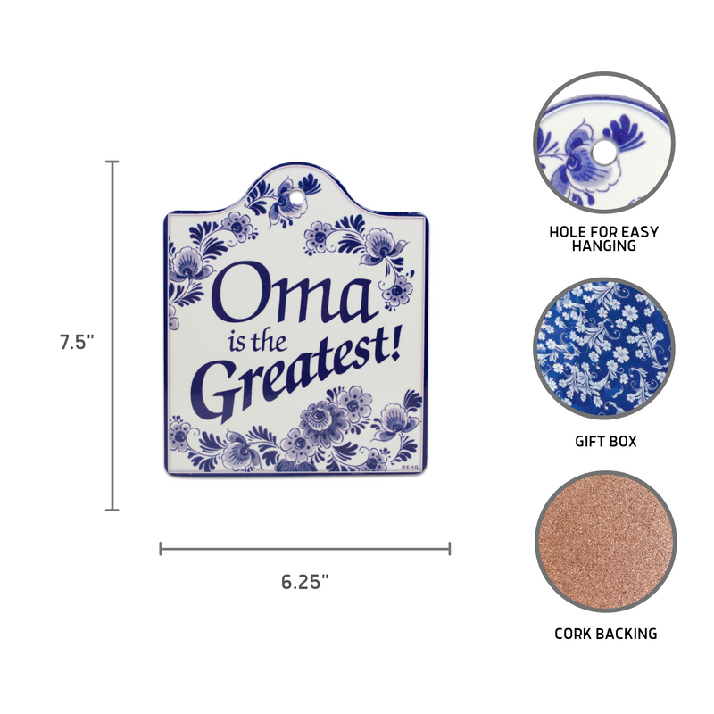 Ceramic Cheeseboard with Cork Backing: Oma